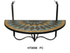 New design iron mosaic hanging balcony table for mosaic top