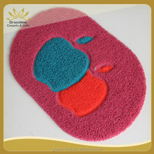 oval shape fancy design pvc coil door mat with net backing