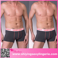 Grey Healthy Bamboo Fiber swimming trunks hot sexi photo image man bikini underwear