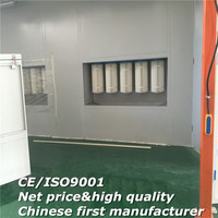 P-100 98% powder recycle paint house/powder coating recycle paint cabin