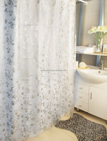 Smellless Plastic PEVA silver bath hanging shower curtains