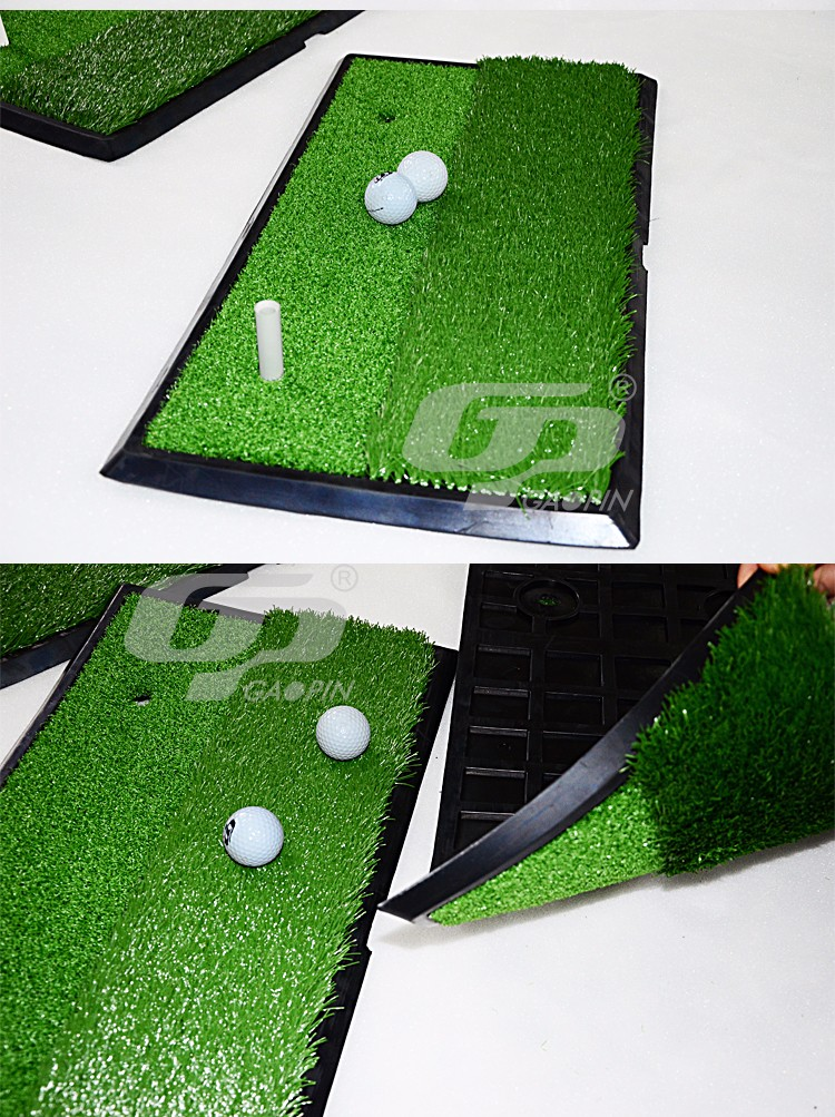 Portable Golf Swing Training Mat Golf Hitting Practice Mat With Rubber Base