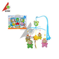 Custom promotional lovely bed music plastic bell baby hanging toy
