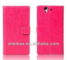 Crazy Horse Pattern Wallet Bag Case For Sony Xperia Z L36h