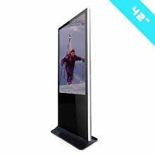 Indoor Standing 42inch LCD Monitor Digital Multimedia touch screen windows os led publicity screens