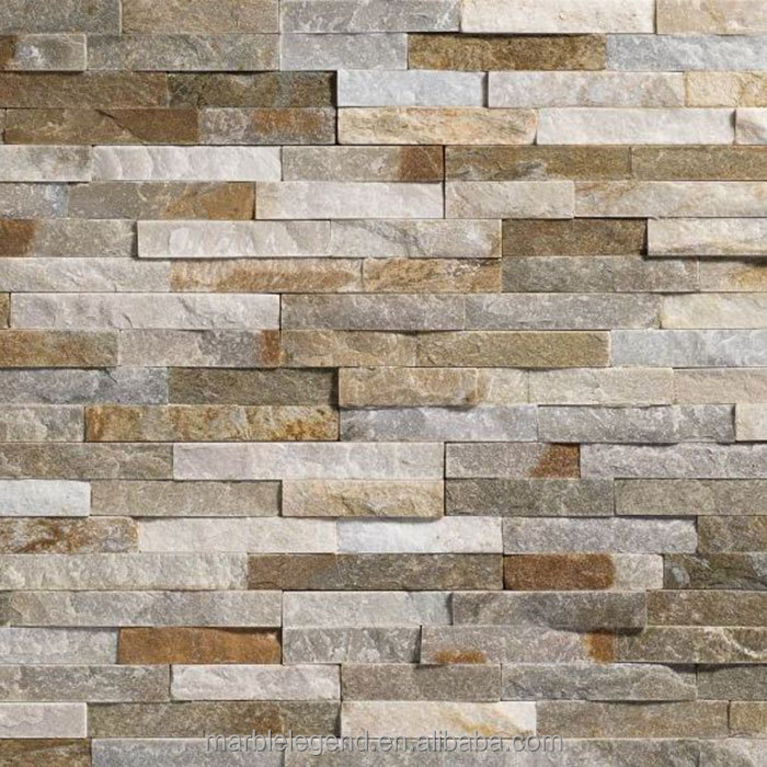Crude stacked stone wall cladding for exterior