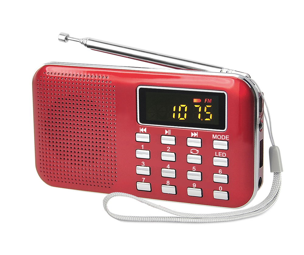 promotional products 2015 super mini fm radio with portable speaker