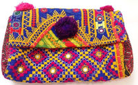 Indian embroidered vintage clutch