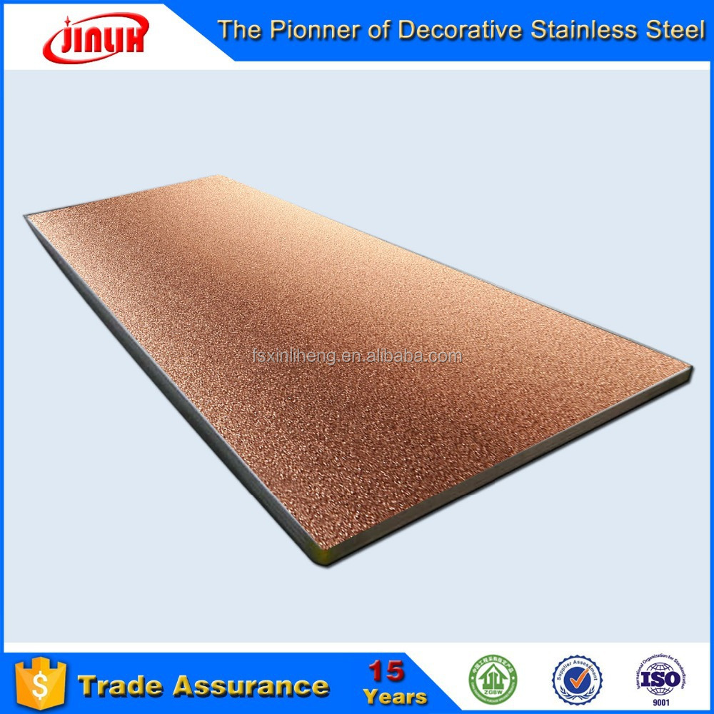 PVD Covered 304 Stainless Steel Plate Price Say Hello to Decoration