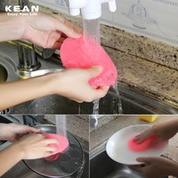 Heat-resistant Kitchen Wash Tool Pot Pan Dish Bowl Scrubber Cleaner Food Grade Soft Silicone Brush