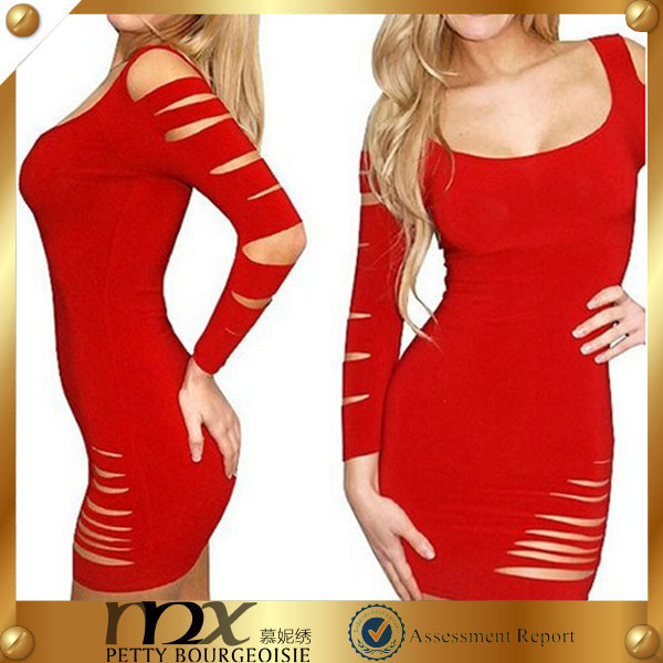 Beautiful 2014 red tube sex women party dress