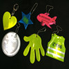 2016 EN13356 environmental glow in the dark custom soft pvc keychain