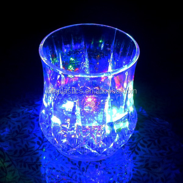 Plastic water sensor led cup for bar&Party