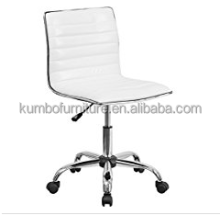 Flash Furniture Mid-Back Armless Ribbed Designer Task Chair, White