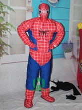 Hot sale spiderman costume!!! spiderman mascot costume for boys for adults!!