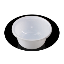 L-Y500 black round disposable plastic soup bowl