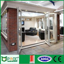 double glazed aluminum frame bi fold doors for office building
