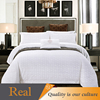 Factory price qualified polyester yarn hotel bed cover