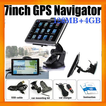 7 inch GPS Navigator ISDB-T with 128MB And 8GB