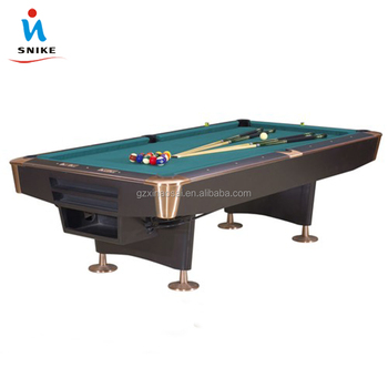 Solid Wood 9ft Brown Pool games table