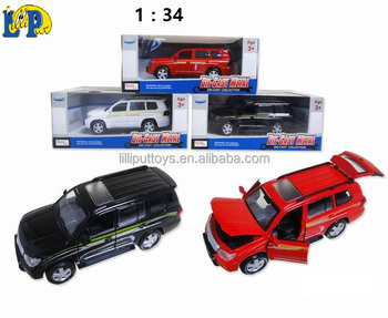 1:34 Licensed Die cast metal pull back toy car with IC light, sound and doors to open