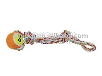 Cotton rope toy rope tennis ball pet toy Dog Toys