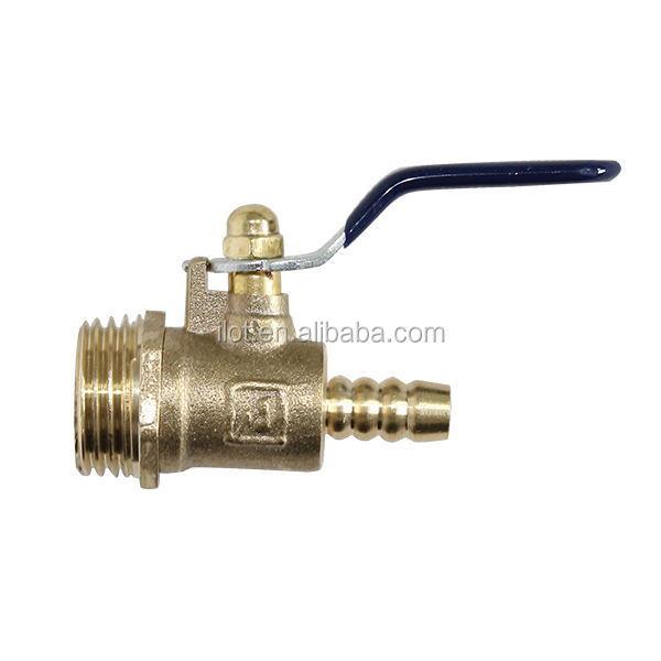 ILot Mini Brass Ball Valve, Male Thread X Hose Barb
