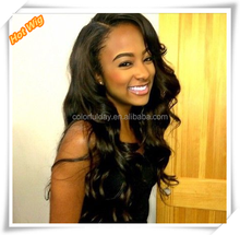 2015 New Sexy Womens Girls Fashion Style Wavy Curly Long Hair Human Full Wigs