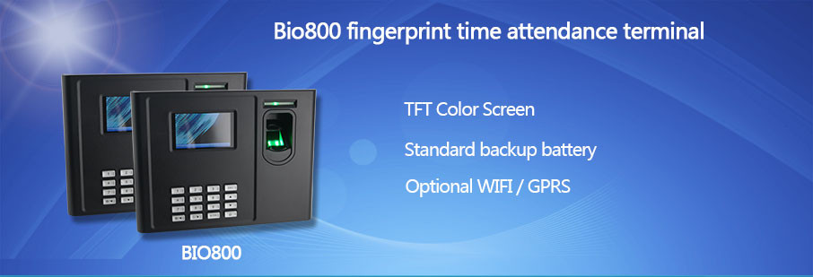 HF-BIO800 Top Selling Battery Operated WIFI GPRS Cheap Biometric Fingerprint Time Attendance System