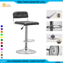 XQ-525 Modern Swivel Adjustable Kitchen Furniture PU Leather Bar Stool High Chair With Footrest Covers China Supplier