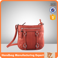 5326 Wholesale Burgundy PU Satchel Bag Crossbody Shoulder Bag for Ladies