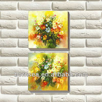 group abstract flower oil painting canvas art prints stretched canvas painting