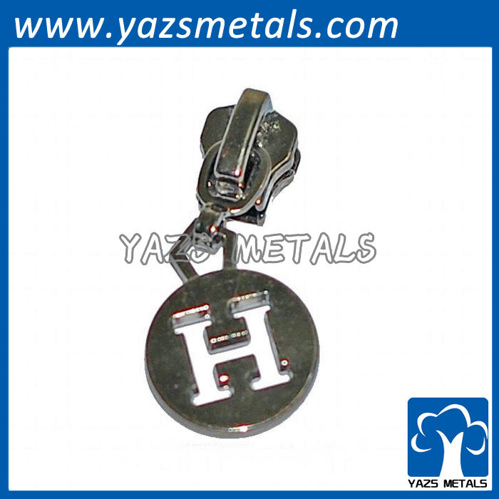 zipper slider for bag or clothes with logo on for custom