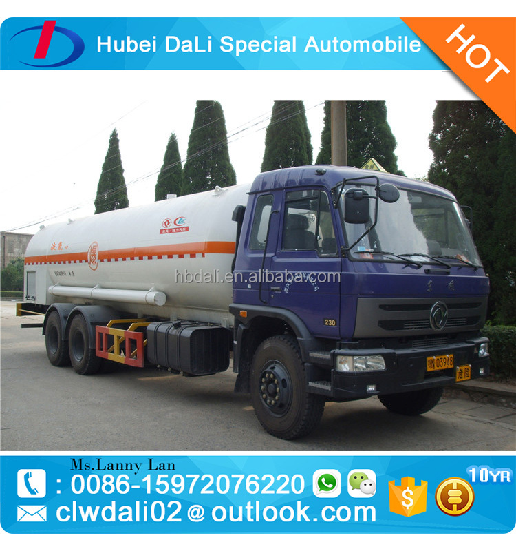 Dongfeng 6*4 refitted vehicle special for 25000L liquid gas lpg tanks