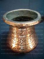 Old Engraved Art Ottoman Copper Boiler