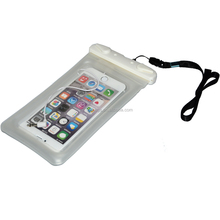 IPX8 floating phone waterproof bag with earphone jack for iphone 6/7 plus