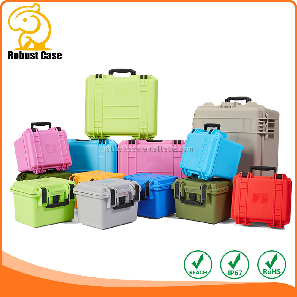 IP67 Waterproof dustproof rushproof Rugged hard plastic case waterproof equipment tool case with foam and wheels