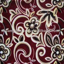 100% polyester printed quilt fabric(high velour)