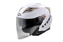 Factory wholesale Dot ECE approved open face helmet with double visor capacete moto vintage motorcycle helmet