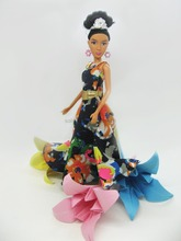 12inch wholesale plastic Barbie for children with beautiful dress