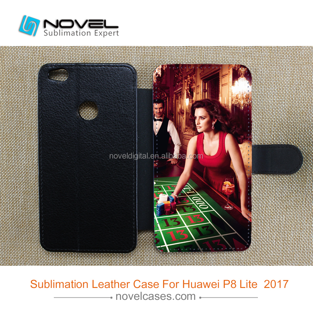 cheap price sublimation leather cellphone case for Huawei P8 Lite 2017