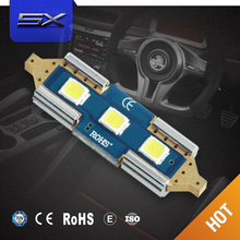 Promotion auto car Bulbs C5W AC10-30V 2W 31mm 3030 canbus LED festoon lighting without copper head led license plate lights