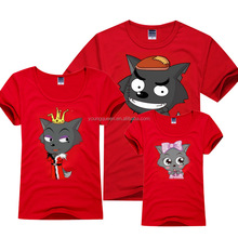 TD26 Family activities T-shirt can be printed in any pattern wholesale print T-shirt
