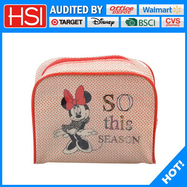 customized printing Mickey Mouse cosmetic bag for girls