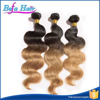 Tangle Free Unprocessed Brazilian Good Feedback Ombre Human Hair Extension