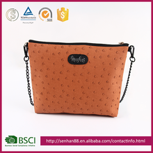 High Quality Orange Dots Cosmetic Bag