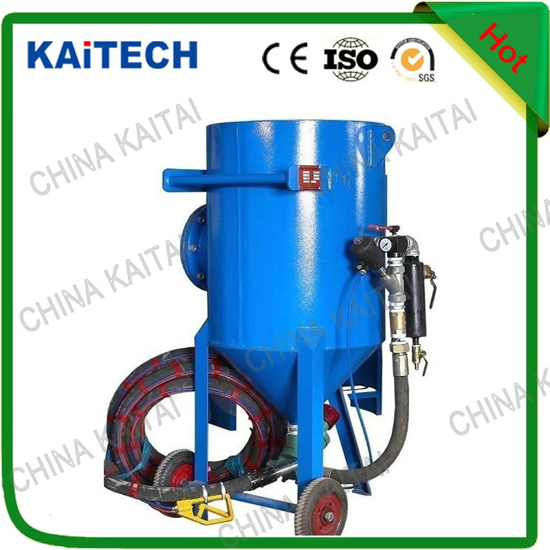Sand blasting pot shot blasting tank used in surface cleaning and treatment for supply
