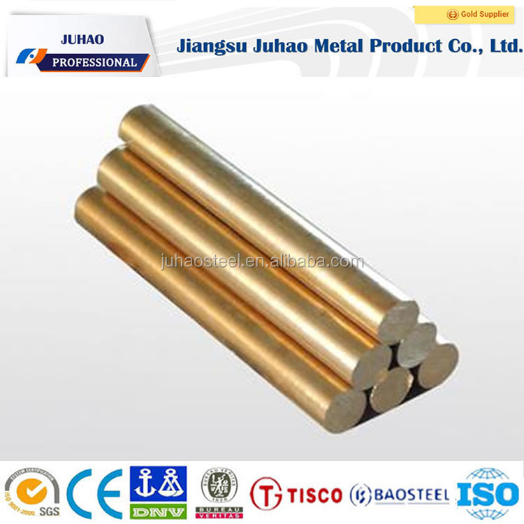 Chinese Suppliers Brass Bright Polished Solid Round Tinned Copper Bus Bar