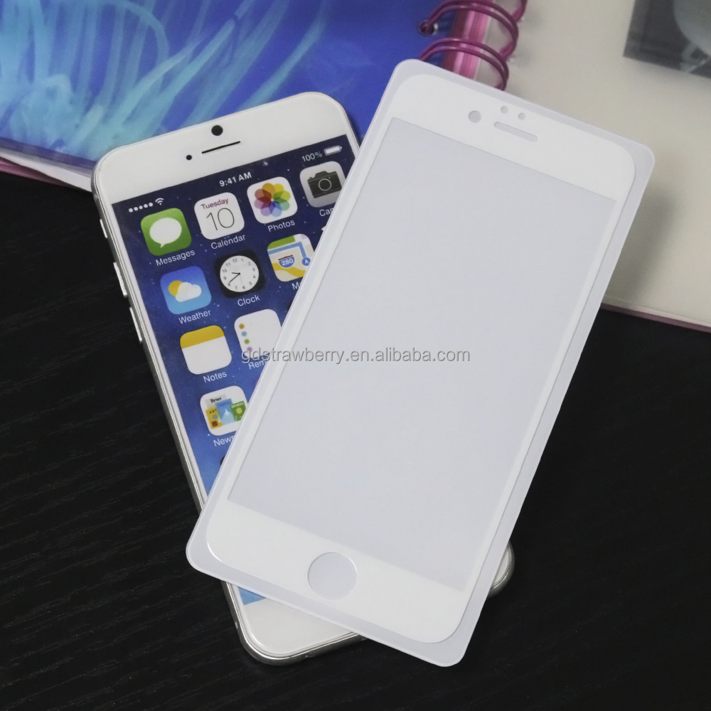Silk Print Colored High quality anti-scratch Film Guard Clear Screen Protector for iphone 6