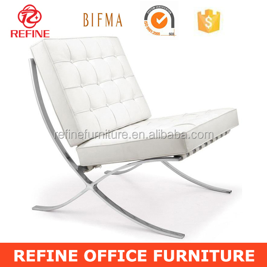 Barcelona Chair White modern white leather barcelona chair replica lounge rf-s200a - buy
